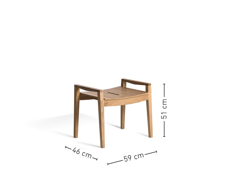 oasiq diuna teak hocker. Black Bedroom Furniture Sets. Home Design Ideas