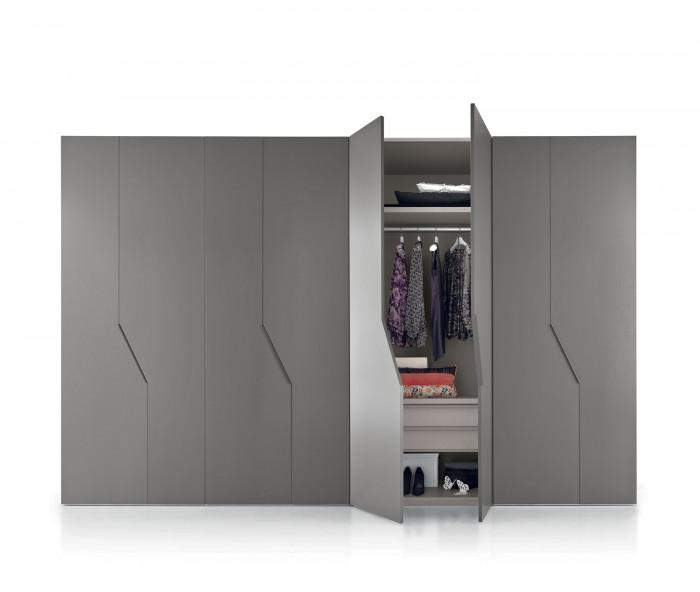 novamobili kleiderschrank diagona fl gelt ren. Black Bedroom Furniture Sets. Home Design Ideas