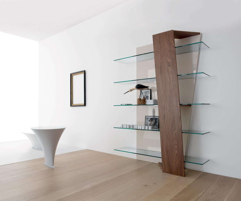 compar design b cherregal book glas walnuss. Black Bedroom Furniture Sets. Home Design Ideas