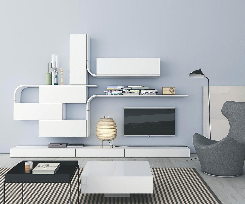 Novamobili wave designer wohnwand gd 216 for Designer wohnwand