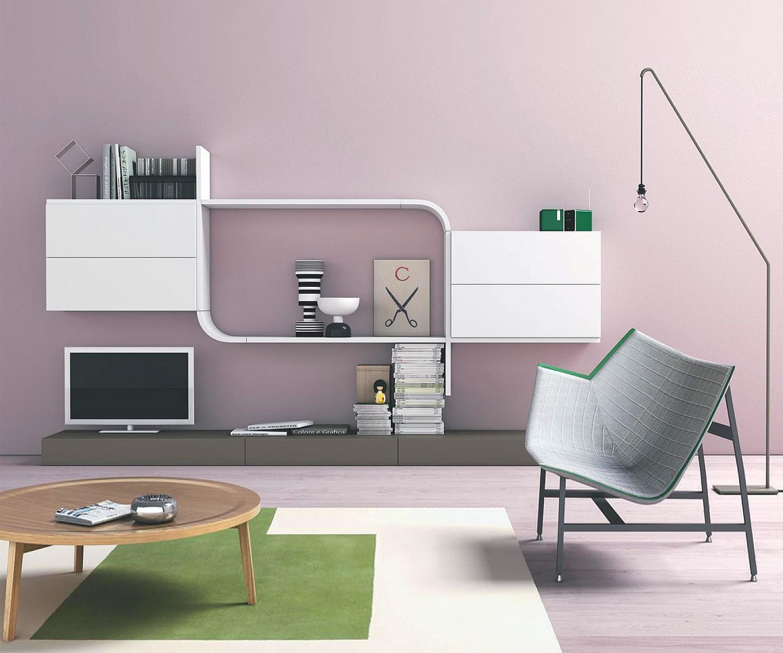 Novamobili wave tv designer wohnwand gd 217 for Wohnwand konfigurieren