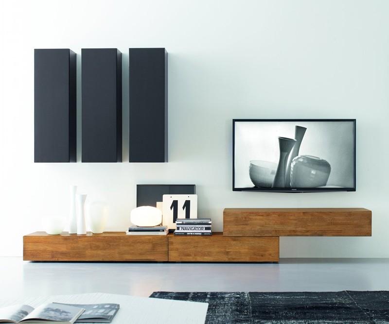 Wohnwand Fernseher H?ngend : FGF Mobili Wohnwand C14B