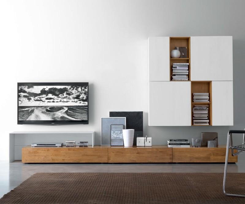 Fgf mobili wohnwand c18b b 300 cm h 180 cm t 37 cm for Wohnwand 180 cm