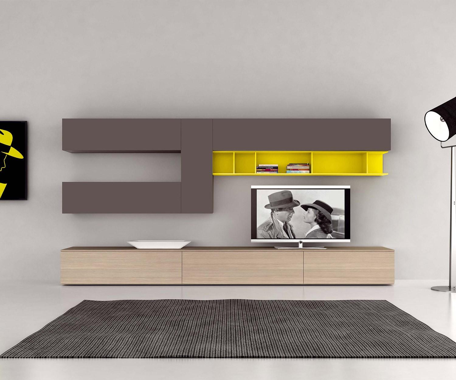 moderne design tv wohnw nde novamobili giorno. Black Bedroom Furniture Sets. Home Design Ideas