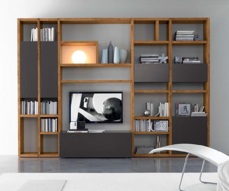 Fgf mobili luxus wohnwand c92b aus parawood for Wohnwand konfigurieren