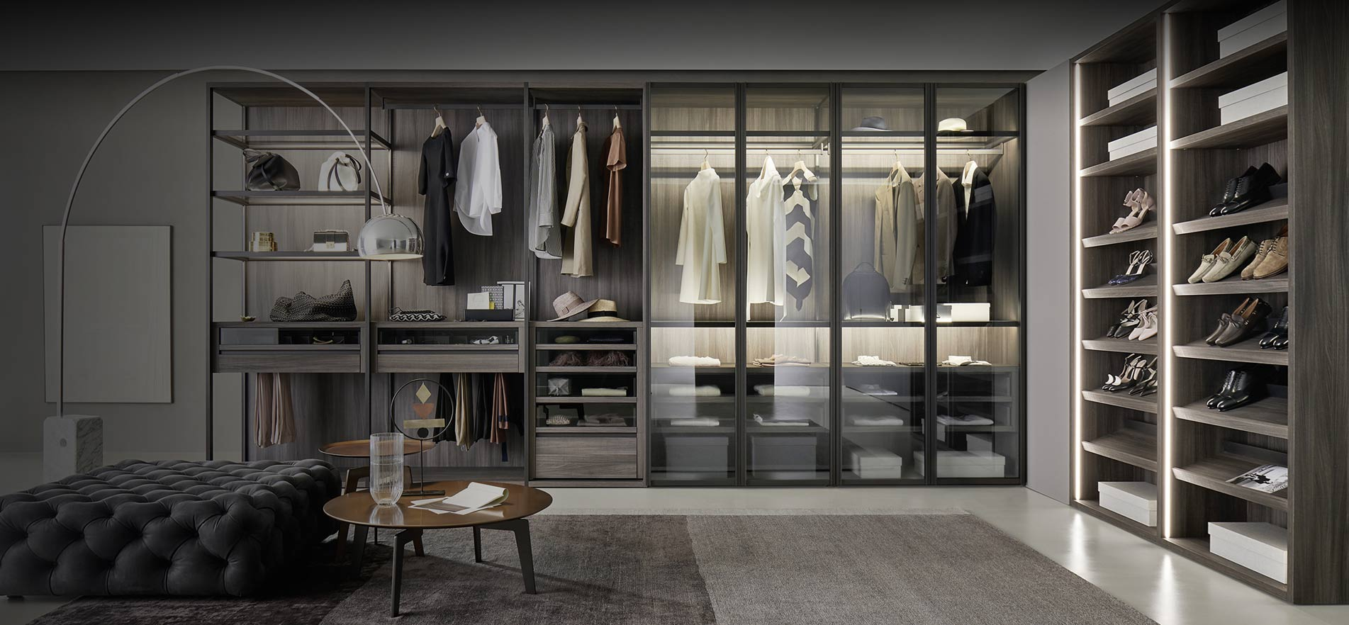 Design begehbare Kleiderschränke