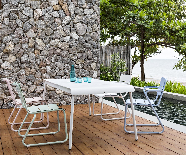 Gartenmobel Gunstig Set : Oasiq ® Corail Aluminium Gartenmöbel in 6 Pastellfarben