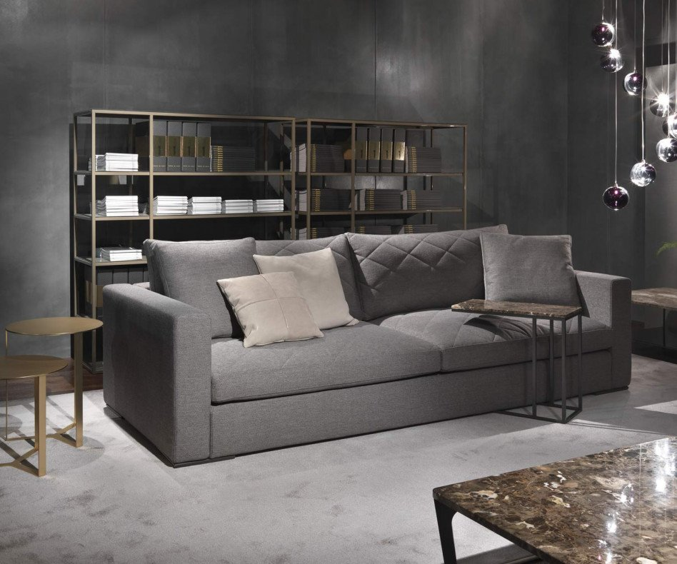 Exklusives Marelli Design Sofa Gordon gesteppt