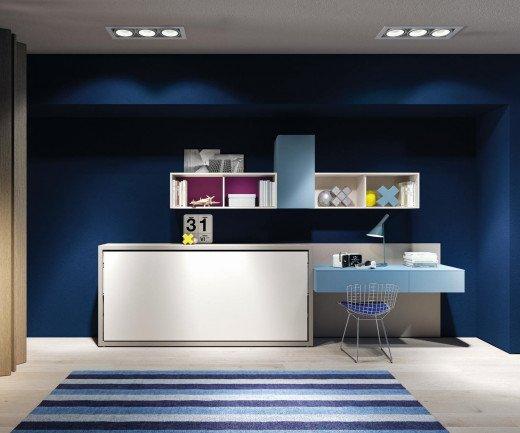 Exklusives Clei Kali 90/120 Design Schrankbett für Kinderzimmer