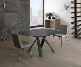 Ozzio Bombo ausziehbarer Esstisch T246 quadratischer Tisch mit runden Ecken