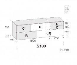 Design Sideboard Incontro Maße