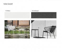 Design Loungesessel Sessel Gartensessel Farbe Tischgestell Anthrazit Weiß