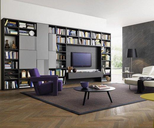 Exklusives Design Wohnzimmerregal Bücherregal C54 in Holzoptik