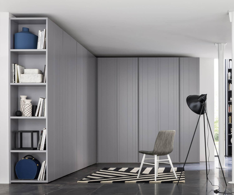 Novamobili Luxus Kleiderschrank Stripe Flügeltüren