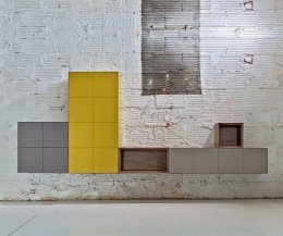Hochwertiges Design System individuelle Wandschränke direkt nebeneinander kombiniert