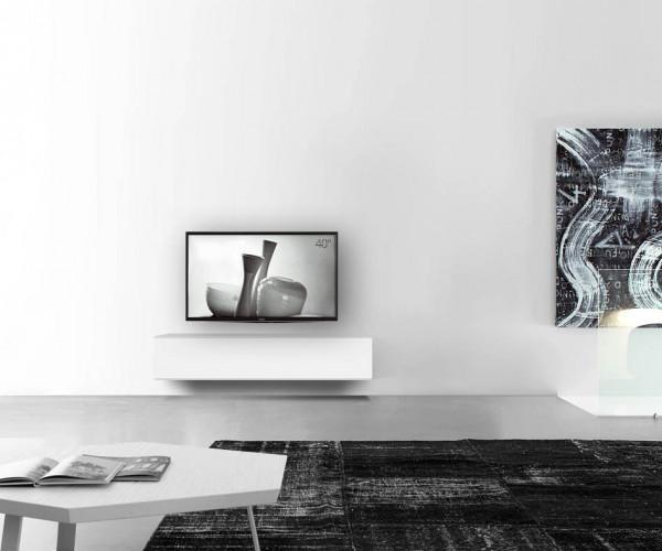 Wand Lowboard B150 H33,5 matt-weiss