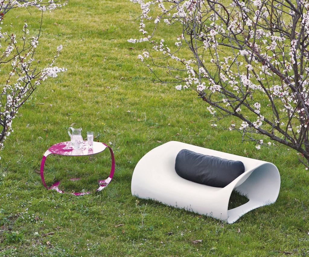 spHaus Soft Pill Stuhl Lounger Chair weiss