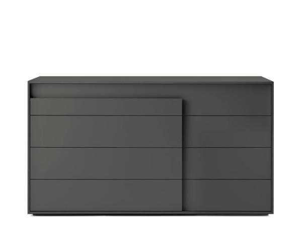 Novamobili Kommode Overlap 4 Schubladen matt weiß