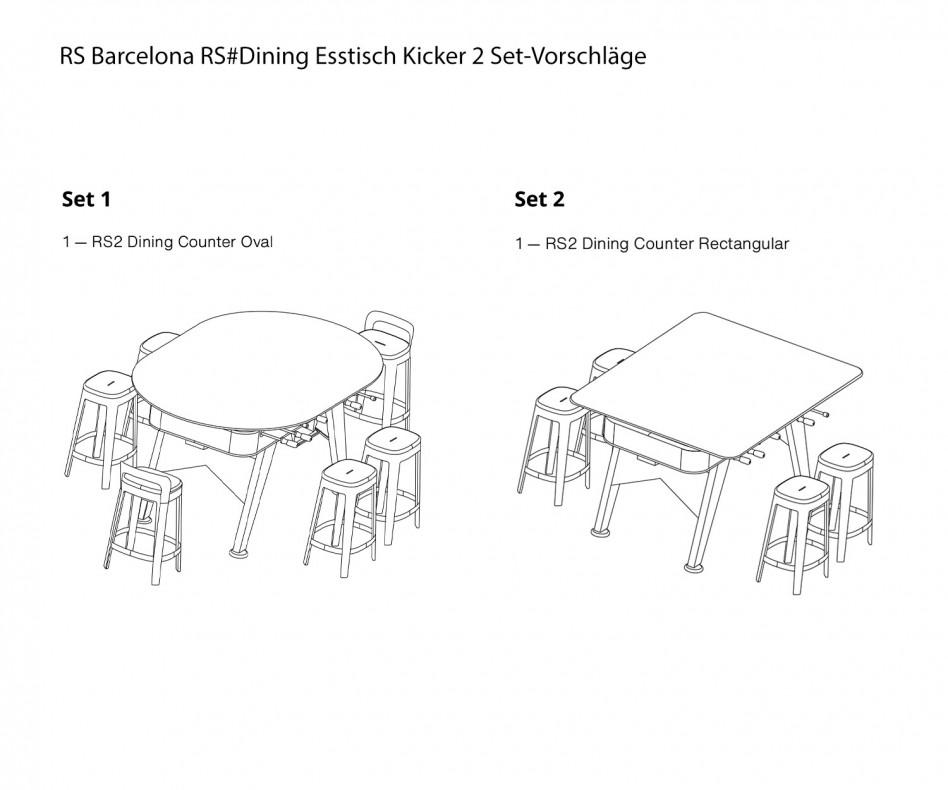 Moderner RS Barcelona RS#Dining Esstisch Kicker