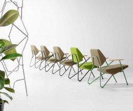 Prostoria Sessel Polygon in verschiedenen Farben bei den Stoffbezügen