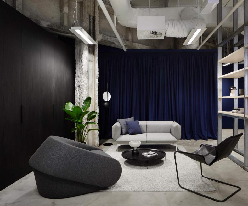 Hochwertiger Prostoria Design Schlafsessel Up-Lift in Schwarz im Wohnzimmer