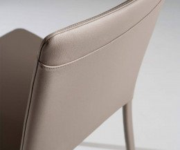 Moderner Ozzio Design Stuhl Lunette Ziernaht