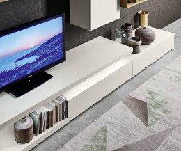 Livitalia Wohnwand C22 Beleuchtetes TV Board