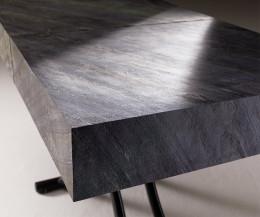 Moderner Ozzio Designer Couchtisch Box mit Naturstein
