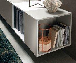 Hängende Design Wohnwand C07 mit offe Elemente