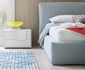 Novamobili Nachttisch Dotty 2 Schubladen matt weiß