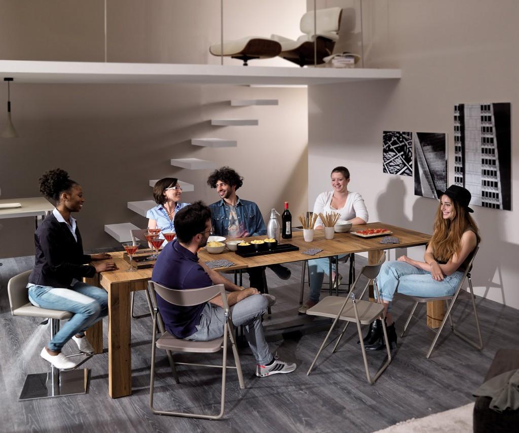 Ozzio Konsole A4 ausziehbarer Esstisch