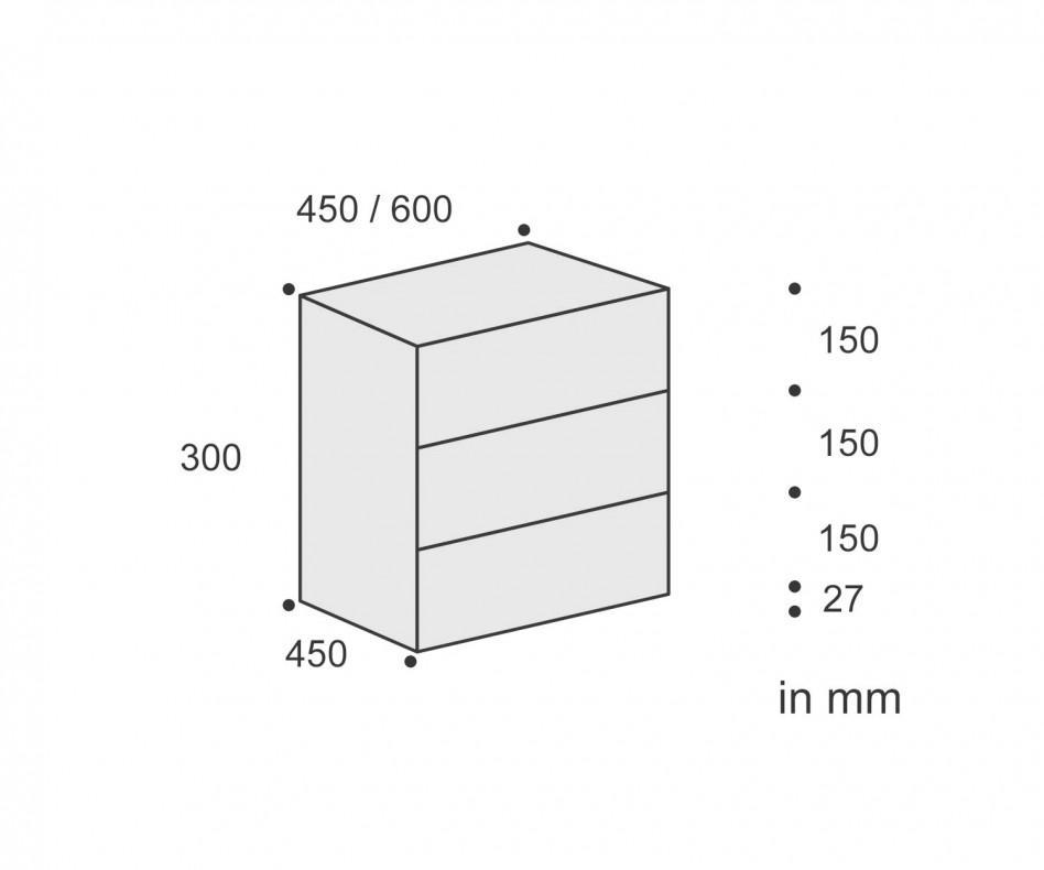 Minimalistischer Nachttisch Ecletto Nachttisch