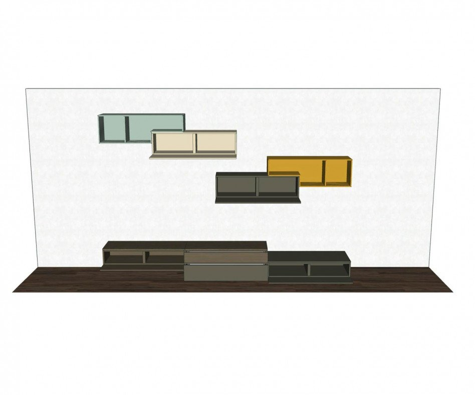 Exklusive Tetris Design Wohnwand C20 von Livitalia