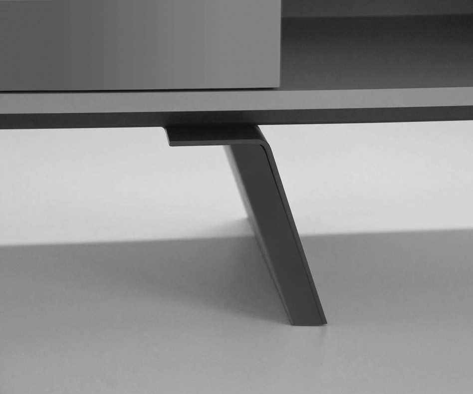 Modernes al2 e-klipse 005 Design Lowboard mit Schubladenfront und drei offenen Fächern