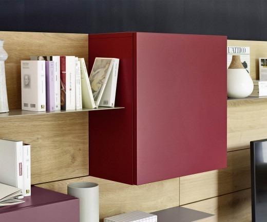 Livitalia Design Wohnwand C37 Hängeschränke