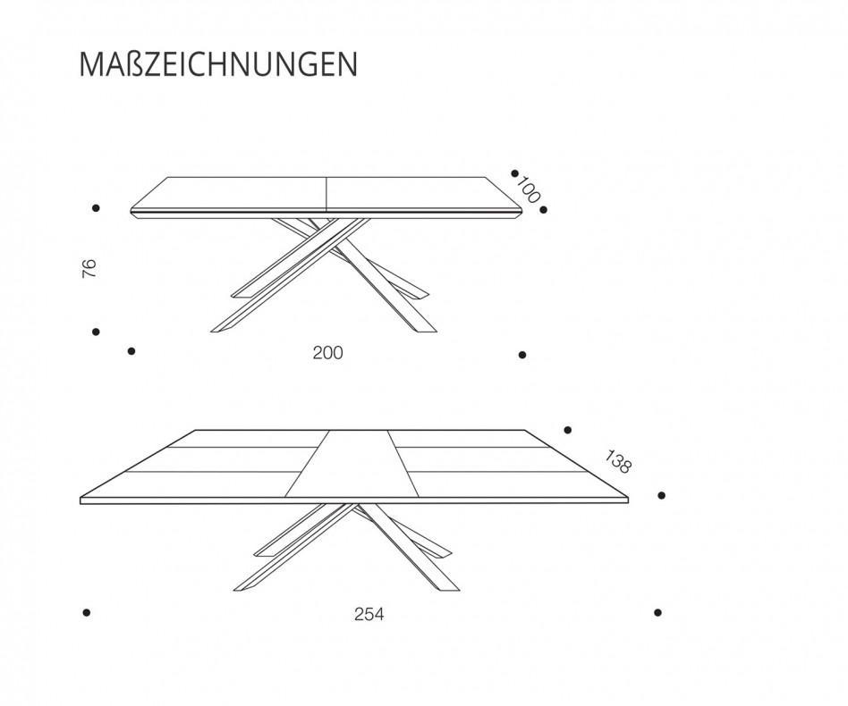 Ozzio 4x4 ausziehbarer Esstisch PZ91