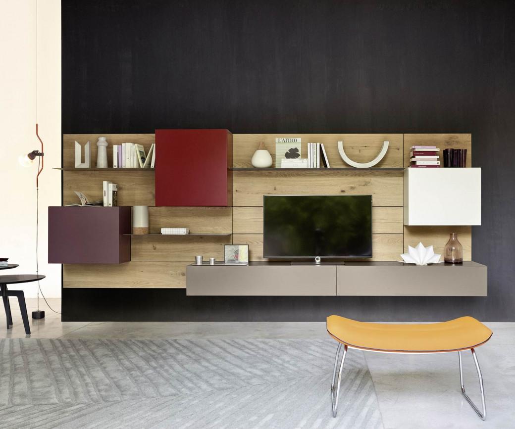 Wohnwand moderne designer tv wohnw nde for Arredo tv design