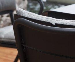 Exklusiver Oasiq Corail Aluminium Stuhl Gartenstuhl Detailfoto