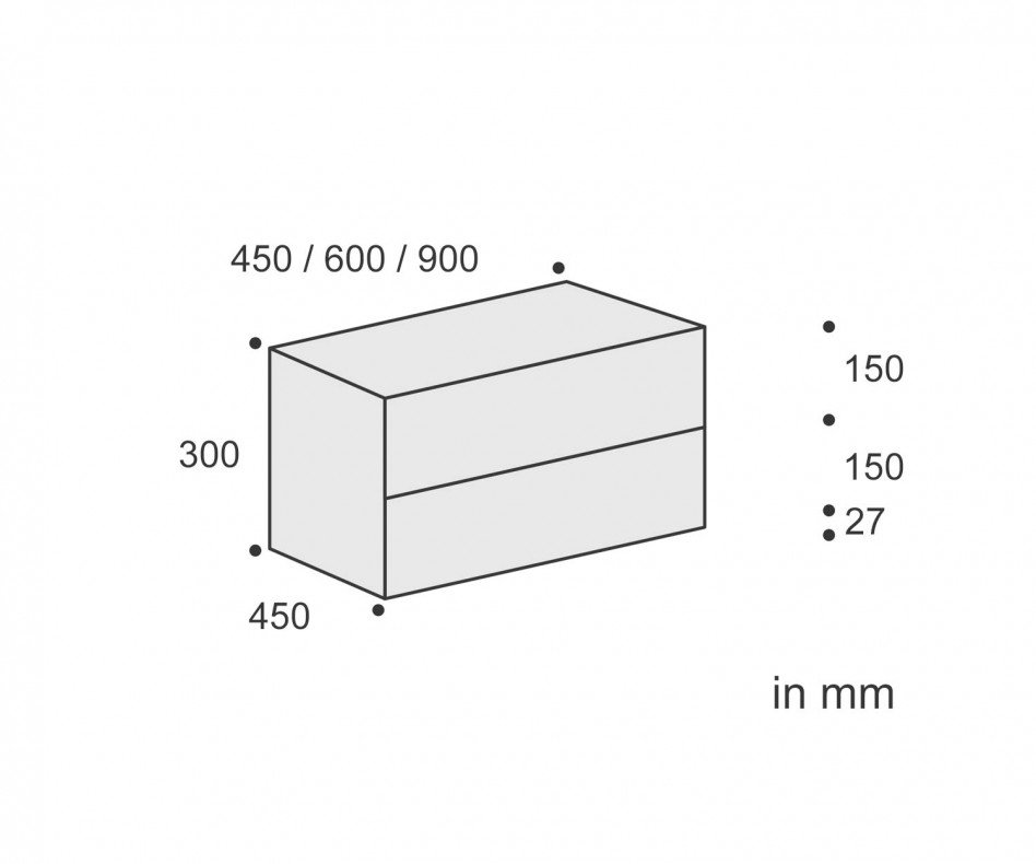 Exklusiver Livitalia Ecletto Design Nachttisch mit 2 Schubladen in Weiß