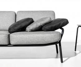 Hochwertiges Todus Starling Design Outdoor Sofa im Detail Polsterauflage und Gestell