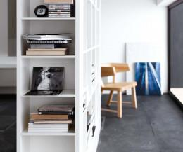 Novamobili Bücherregal Frame weiße esche