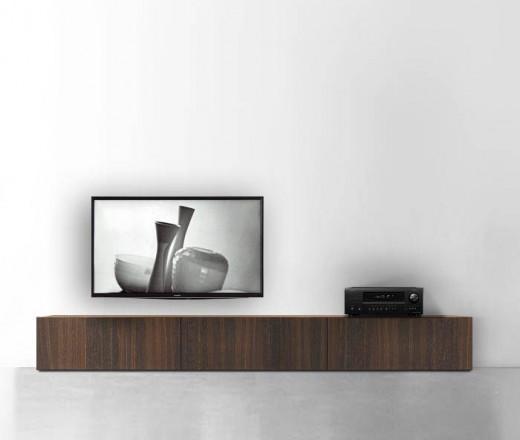 TV Schrank Lowboard Boden 270 cm 32 cm 56 cm Eiche braun