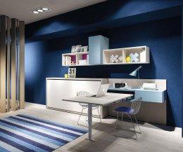 Modernes Clei Kali 90/120 Design Schrankbett für Kinder