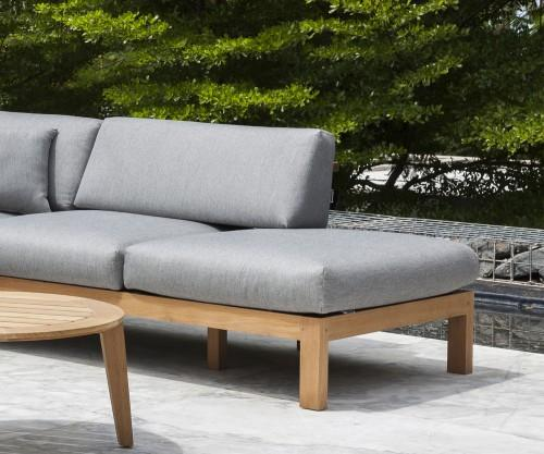 Oasiq Maro Teak Chaiselongue 2er Sofa