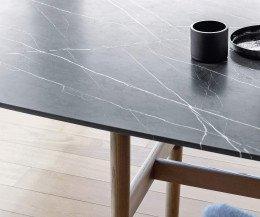 Novamobili Tisch Torii Marmor Matt Schwarz