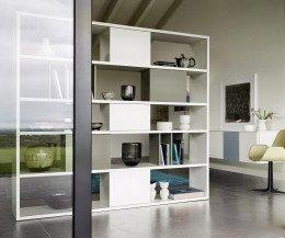 Modernes Livitalia Design Standregal C92 Raumteiler Weiß