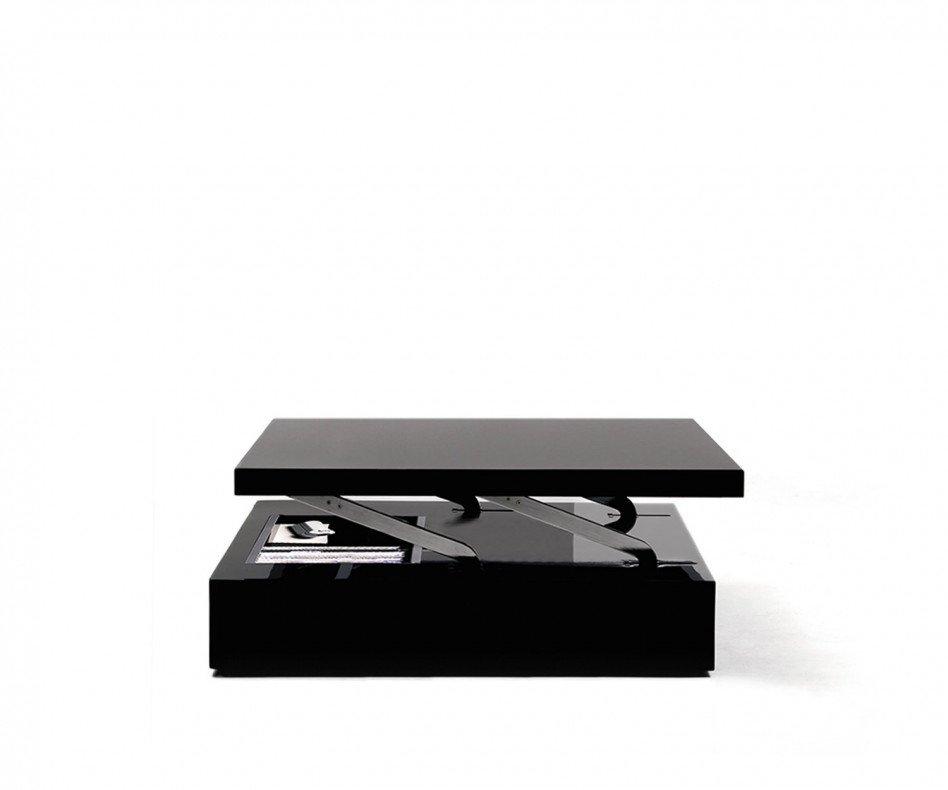 Ozzio Couchtisch Flat quadratisch schwarz