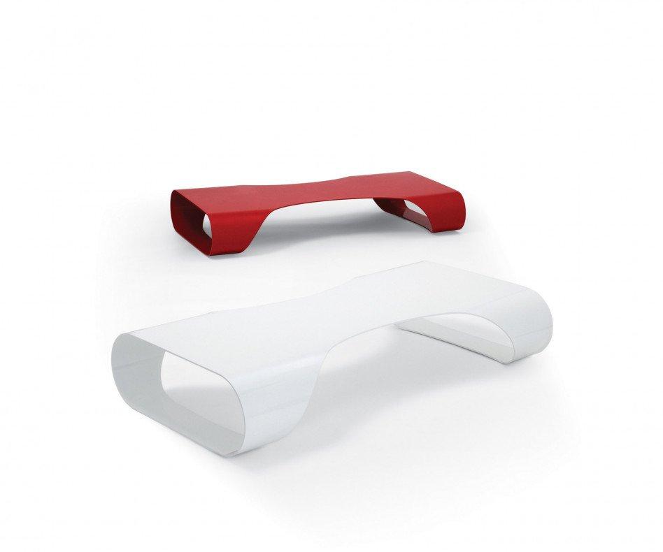 spHaus Couchtisch Lite weiss & rot design