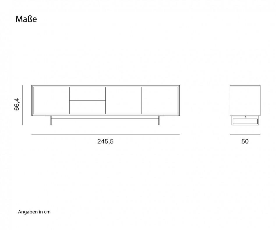Weißes Design Sideboard Novamobili Schatten 4