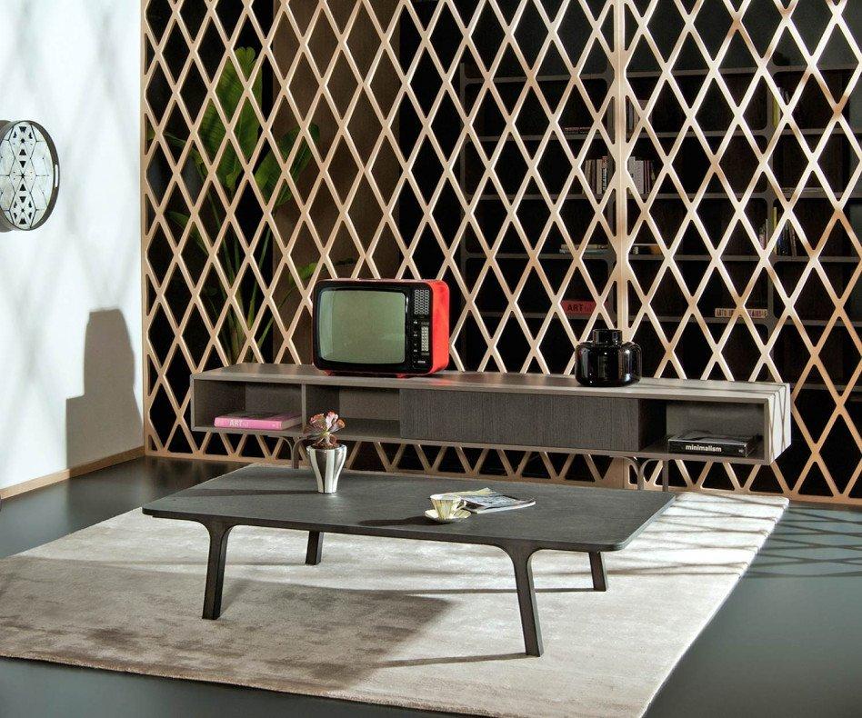 al2 Mobius 005 Design Lowboard im Retro Design im Wohnzimmer